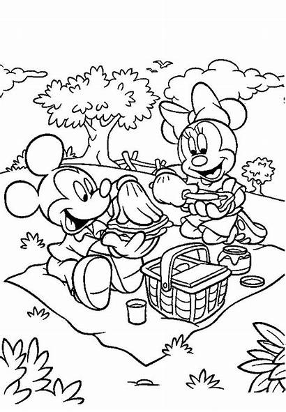 Mickey Mouse Coloring Pages Minnie Eating