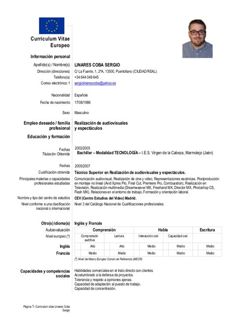 Curriculum Europeo De Sergio Linares Coba. Cover Letter For Customer Service In Bank. Curriculum Vitae Modelo Italiano. Curriculum Vitae Modello Word Europeo. Resume Cv Html. Word Letter Template Address Window. Cover Letter For Nike Retail. Cover Letter Spacing And Font Size. Resume Skills Waitress
