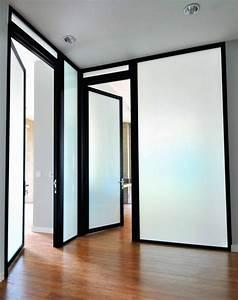Black, Frame, Glass, Office, Swing, Doors, Project
