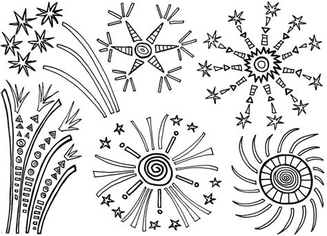 printable fireworks coloring pages  kids