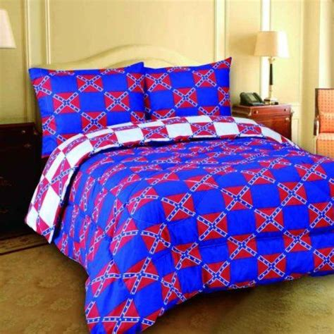 regal comfort queen size checkered rebel flags design  piece comforter spread  sheet set bed