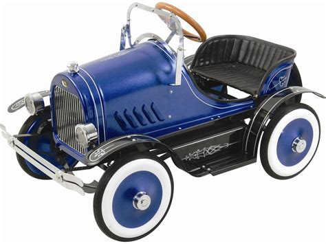 kalee deluxe roadster pedal car blue  pink