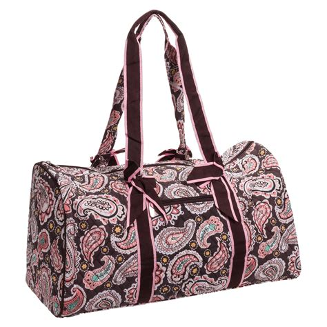 quilted duffle bag belvah quilted brown paisley large duffle bag travel