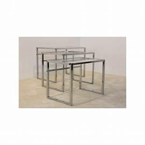 Tables Gigognes Ikea : ensemble de 3 tables gigognes ikea en chrome et verre 1960 design market ~ Teatrodelosmanantiales.com Idées de Décoration