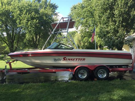 Malibu Boat Trailer Bumpers by Malibu Sunsetter Boat For Sale From Usa