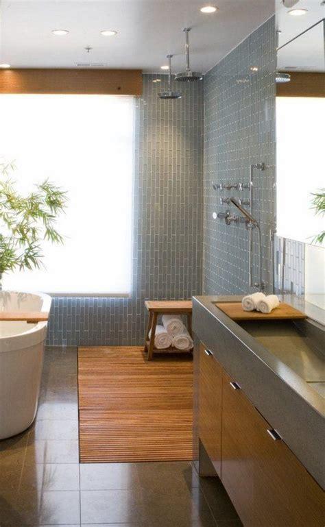 Modern Japanese Bathroom Vanity shower soaking tub wood vanity cabinet modern