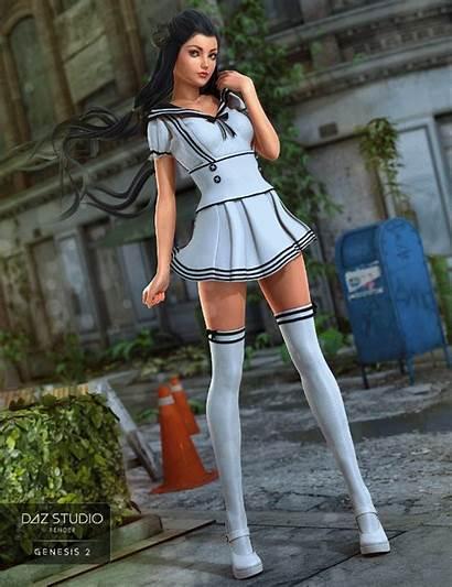 3d Daz Seifuku Genesis Female Outfit Daz3d