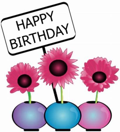 Birthday Clipart Flowers Happy Meme Flower Floral