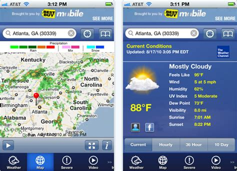 weather channel app for iphone free iphone apps for 3g 3gs 4 technology collections