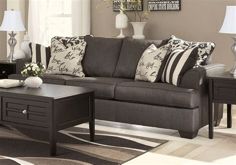 charcoal sofa living room levon charcoal sofa set evansville overstock warehouse
