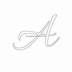 wedding cursive uppercase lowercase alphabet stencils With cursive letter stencils free