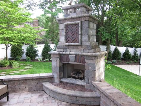 unilock tuscany fireplace features places island
