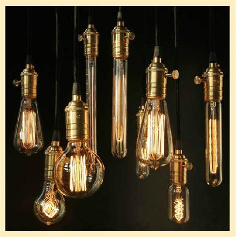 1pcs e27 edison bulb chandelier lights hanging brass l