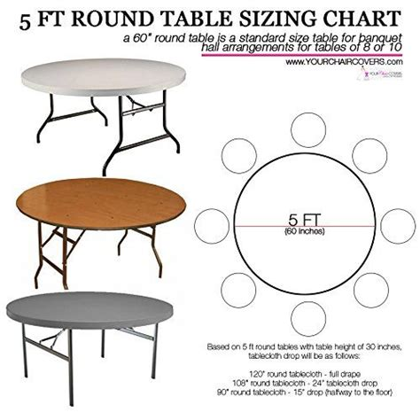 tablecloth size for 6 table how to buy tablecloths for 5 ft round tables use this