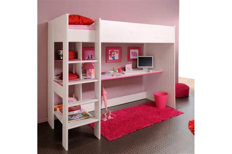 lit surélevé avec bureau intégré lit avec rangement integre pas cher maison design