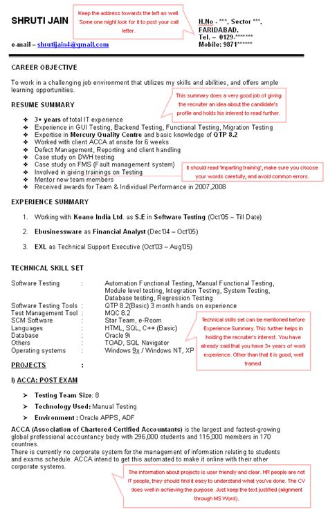 Cv Advice by Expert Cv Advice Sle Of A Cv