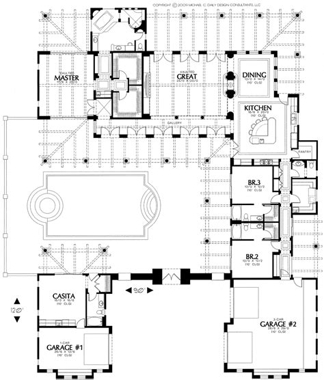 house plan with courtyard house plans with courtyard hacienda house