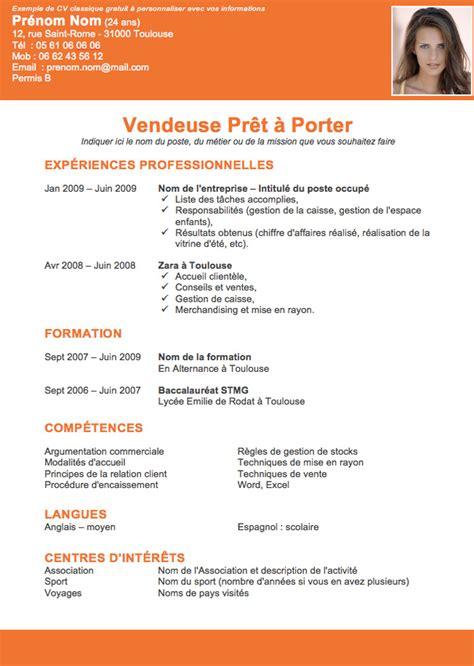 Modèle Cv Franàçais Gratuit by Resume Format Modele De Cv Gratuit Imprimable