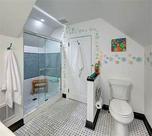 super cute teen bath eclectic bathroom new york With small bathroom tile ideas for teens