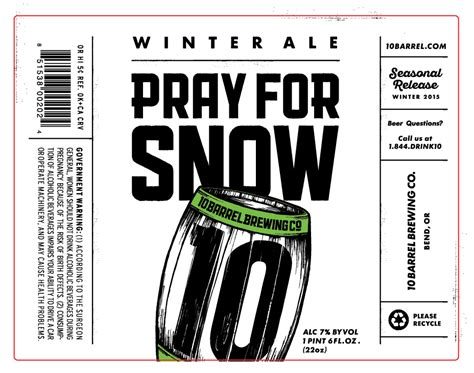 Image result for 10 barrel pray for snowe