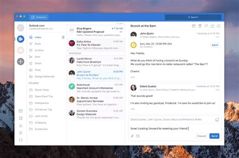 Microsoft Office Outlook by Microsoft Outlook For Mac Gaining Simplified Redesign