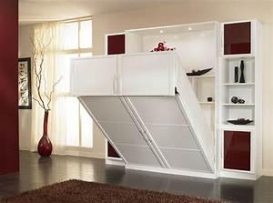 Lit Dans Armoire : lit rabattable sur mesure lits rabattables pinterest ~ Premium-room.com Idées de Décoration