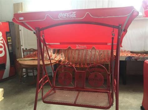 Coca Cola Swing by Coca Cola Brand Outside Swing On Frame With Canopy