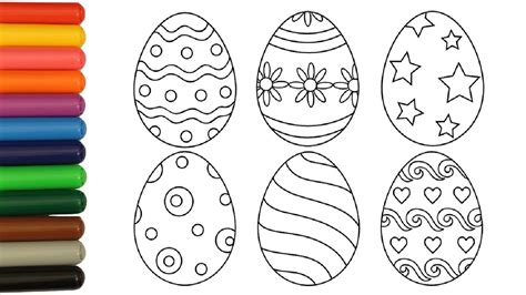 coloring pages easter eggs coloring video  kids youtube