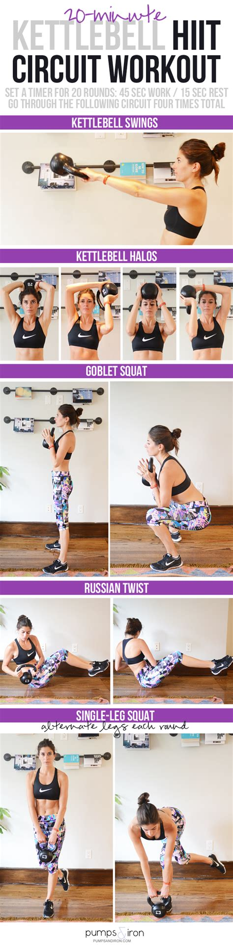 hiit workout kettlebell workouts minute dorm room piece equipment exercise kettle bell body need circuit exercises weight fitness cardio killer