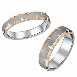 rose edged titanium wedding ring set 4mm 6mm titanium With titanium wedding ring set