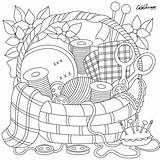 Coloring Sewing Pages Adult Adults Basket Embroidery Patterns Books Sheets Gift Crafts Colouring Printable Drawing Super Easter Drawings Hand Printing sketch template