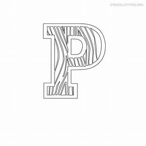 stencil letters p printable free p stencils stencil With letter stencils for wood