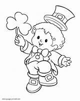 Leprechaun Coloring Pages St Patrick Printable Patricks Boy Costume Drawing Saint Sheets Colouring Kid Celebrating Awesome Shamrock Pot Gold Toddlers sketch template