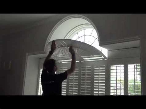 fan shaped window shades operating shaped window shutters with a curved fan top