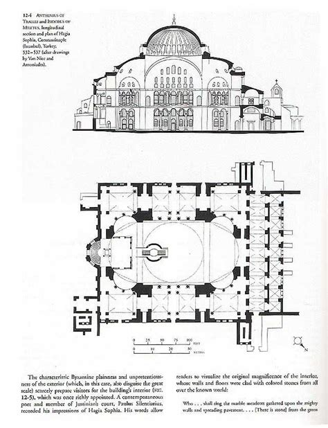 hagia floor plan hagia longitudinal section and floor plan