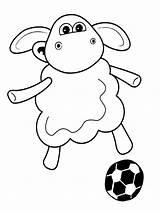 Sheep Shaun Coloring Pages Cartoon Shon Pokemon Characters sketch template