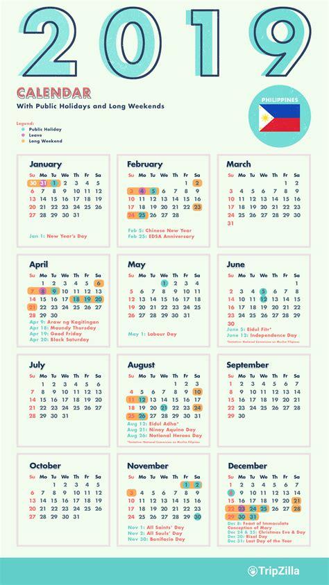 long weekends philippines calendar cheatsheet