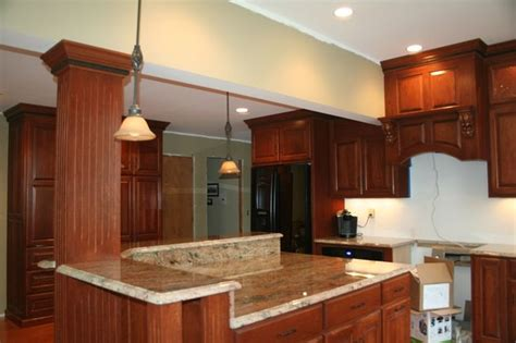 kitchen corner island corner kitchen island with supporting beam for the home pinterest
