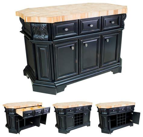 Lyn Design Isl06dbk Black Kitchen Island Without Top