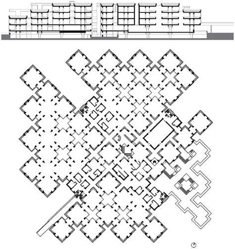 floor plan  centraal beheer headquarters  herman herzberger  scientific diagram