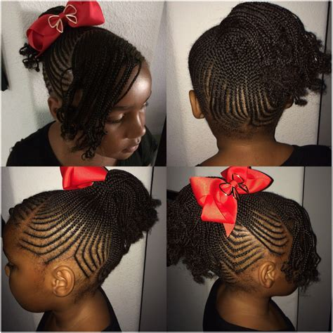 back to school hair do little girl braids small tiny