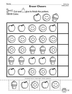 preschool patterning worksheets abab pattern worksheets for preschool worksheets for all 608