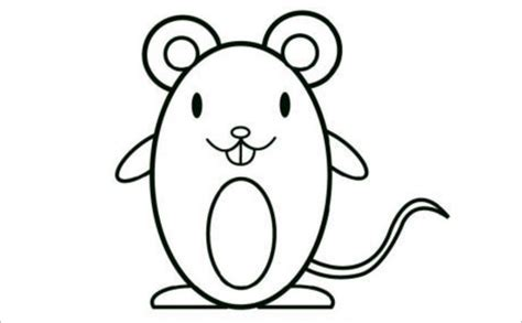 mouse templates crafts colouring pages  jpg