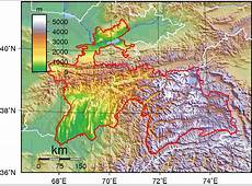 Carte topographique Tadjikistan, Carte topographique de