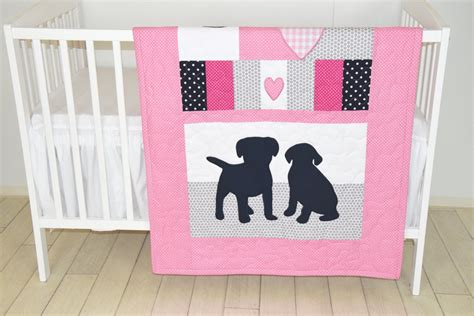 Puppy Baby Quilt, Dog Nursery Blanket, Baby Girl Quilt, Pink Crib Bedding, Labrador Blanket How To Make A Fort With Only Blankets And Chairs Wool Yoga Nz Bilirubin Blanket Ohio Dept Of Taxation Exemption Certificate Ripple Crochet Patterns Baby Pics Adventure Kings Portable Solar Review Cotton Gauze