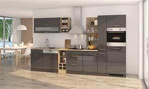 Küchenzeile 360 Cm Mit Elektrogeräten : k chenzeile m nchen vario 3 k che mit e ger ten breite 340 cm hochglanz grau graphit ~ Bigdaddyawards.com Haus und Dekorationen