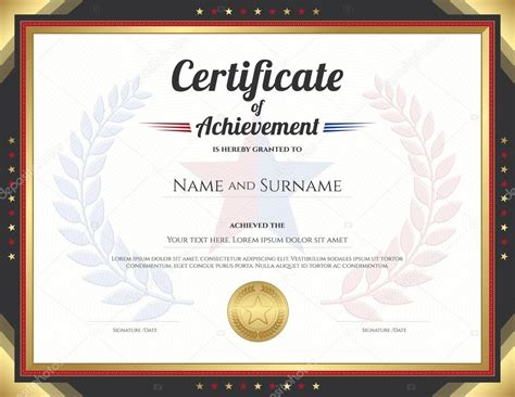 certificate templates with photos printable word doc stock illustration certificate of
