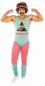 80s Fitness Instructor Mens Costume | Letter u0026quot;Fu0026quot; Costumes | Mega Fancy Dress