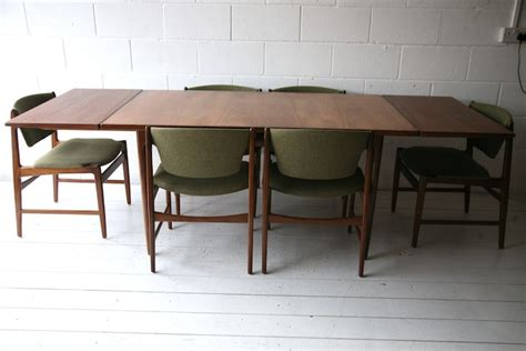1960s g plan dining table and 6 chairs and chrome