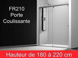 Parois de douche largeur 180 porte de douche coulissante for Porte douche coulissante 180 cm